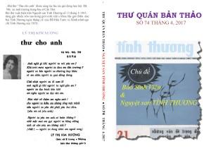 bài thơ đăng ở bìasau